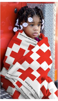 American Red Cross blanket concept
