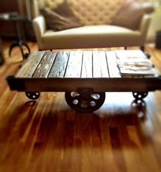 Furniture Factory Cart in the 1900's Is My Coffee Table Today!