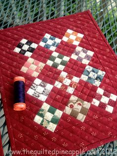 Love a sweet Nine Patch quilt