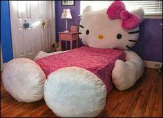 Hello Kitty bed!!! OMG! I WANT!!!!!!!!!!!!!!!!