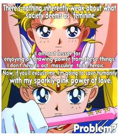 Sailor Moon, man. <3 Time to save humanity with the power of pink sparkles and happy glitter of sunshines! >D
