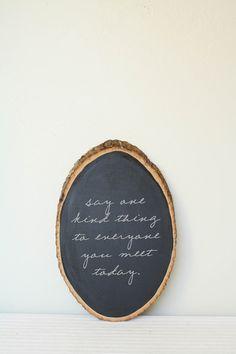 Chalkboard paint on wood, love it !