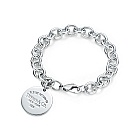 Tiffany Silver Bracelet with Return to Tiffany Heart Tag Charm a