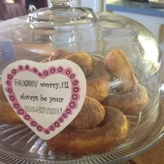 14 days of Valentine's & donuts made out of biscuits w/ cinnamon & sugar! Yumm!