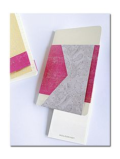 Moleskin notebooks with origami flap design by pinkponiesshop