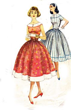 50s Vintage Sewing pattern Simplicity 1963 by allthepreciousthings, $24.00