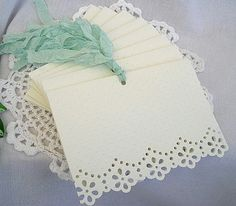 Vintage Inspired Doily Paper Lace, Embossed Note Cards or invitations -- simple but so pretty!