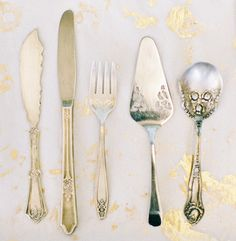 I love the idea of using vintage silverware at parties. I have found many pieces on Etsy! #roost