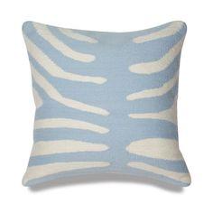 Jonathan Adler Light Blue And Natural Zebra Pillow in Pop Pillows