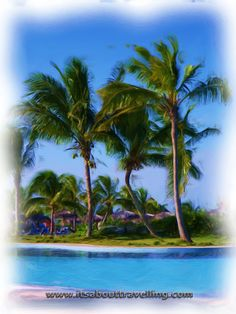 Pool at Playa Pesquero, Cuba Enhanced with Corel Painter Essentials 4