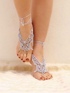 Metallic Barefoot Sandals