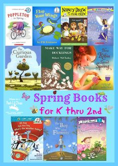 Spring themed books for kids in Kindergarten thru 2nd grade