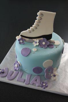 fondant ice, ice skate, polka dots, skate cake, skate parti, ice skating cake, flower names, cake toppers, birthday cakes