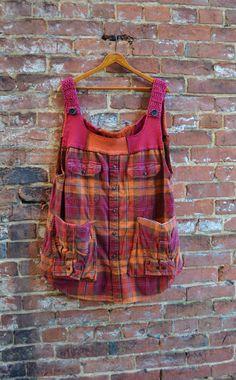 Arisan Smock Dress/ Womens Tunic Dress/Pocket by RebirthRecycling, $67.00