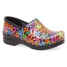 "Dansko ""Professional"" Flower Power Patent Leather Clog"