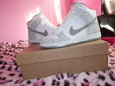 basketball, cheetahs, nike hightop sneakers, cheetahprint shoe, cheetah print, christmas, kids, nike sneakers, leopard prints