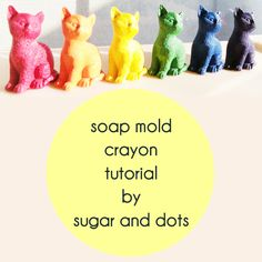 DIY 20 minute custom kitty cat crayon tutorial - these would be sweet for party favors or stocking stuffers