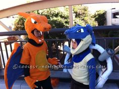 Homemade Costumes for Kids: Coolest Charizard and Blastoise Costumes for Boys... Coolest Halloween Costume Contest