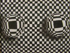 Vasarely inspired op art spheres