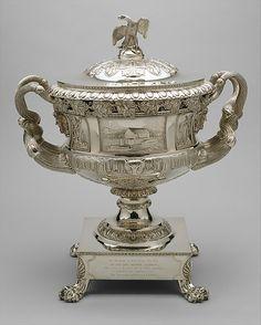 Presentation Vase, Thomas Fletcher and Sidney Gardiner, 1824, silver. Metropolitan Museum of Art