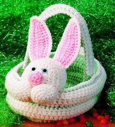 Crocheted Bunny Basket | Crocheting Crafts | Easter Crafts — Country Woman Magazine