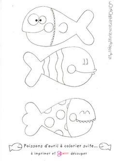 poissons d'avril à colorier et imprimer