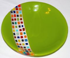 Fused glass plate.