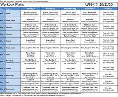 Homeschool Workbox, Lapbook Organizing and Planning : Robin Sampson's Blog