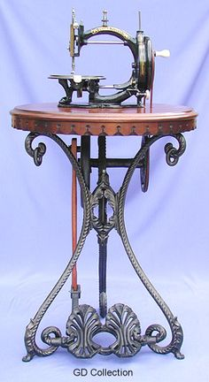 Whight & Mann's famous lockstitch, the Prima Donna, was sold in both hand and treadle forms. The treadle itself was a dedicated design of real beauty and elegance. Today it is a rare item, and highly sought after. Circa 1870.