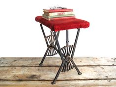 Vintage Art Deco Foot Stool  Ornate Metal by SnapshotVintage, $120.00