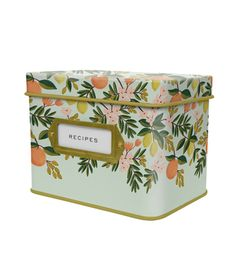 Citrus Floral Tin Recipe Box - I've been waiting for these!! Good thing I saved some birthday cash. ;)