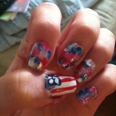 Festive nails :) happy 4th of July!