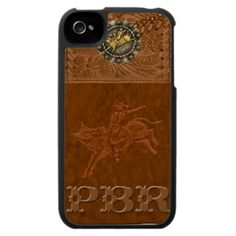 PBR Leather Look IPhone Case. Great for lovers of the Professional Bull Riders Rodeo