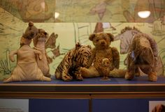 """Yes indeed, Pooh and friends live at the New York Public Library and you can pay them a visit! Through March 2012, they're on display in """"Celebrating 100 Years,"""" an exhibition about the NYPL's holdings, but you can usually find them in the Children's Center at 42nd Street."""