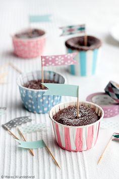 Washi Tape Cupcake Flags
