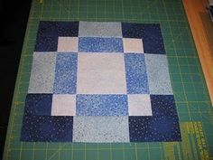 disappearing nine patch using 2 nine patch blocks