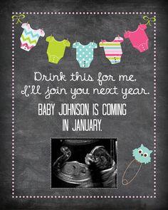 Pregnancy Announcement, Baby Announcement Wine Bottle Label, Custom Wine Label Pregnancy, Tell Parents Pregnant with Wine Label