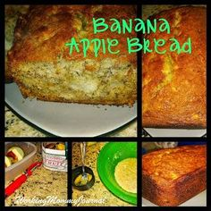 Banana Apple Bread via @Carla {WorkingMommyJournal} // #banana #bananabread