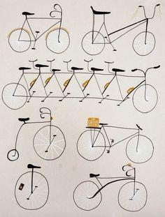Cycling Print ~ Erin Wallace Print + Design