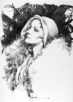 Greta Garbo 2 art by Jose (Pepe) Gonzalez