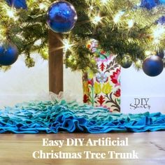 artificial Christmas tree trunk cover tutorial