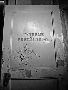 Door to what had been the violent wards of the Danvers State Hospital in Massachusetts before the building was torn down.