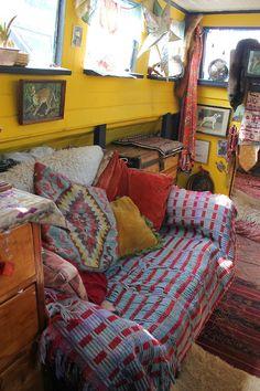 eclectic houseboat