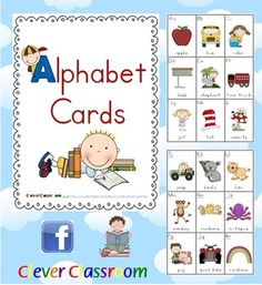 Beginning-Initial Sounds Alphabet Posters - PDF file4 page file designed by Clever Classroom.Are you looking for bright, bold, cute alphabe...