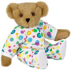 "15"" Pajama Bear from Vermont Teddy Bear. $69.99 #NewBaby #TeddyBear"