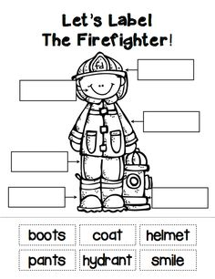 """Sample student labeling page from """"The People In My Community"""" pack. Read and learn about all sorts of community helpers... from police officers to doctors and many more! ($)"""