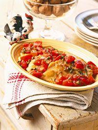 Chicken with Tomato-Caper Sauce