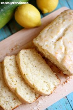 Eat Cake For Dinner: Lemon Zucchini Bread with Lemon Glaze