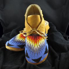Native American Beaded Moccasins.
