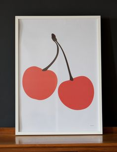 We really love the Cherry Poster, with its bold colours would work really well in a child's room, nursery or kitchen.